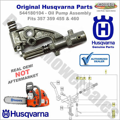 Husqvarna OEM 544180104  Chainsaw Oil Pump for 357xp  359xp  455  460  461