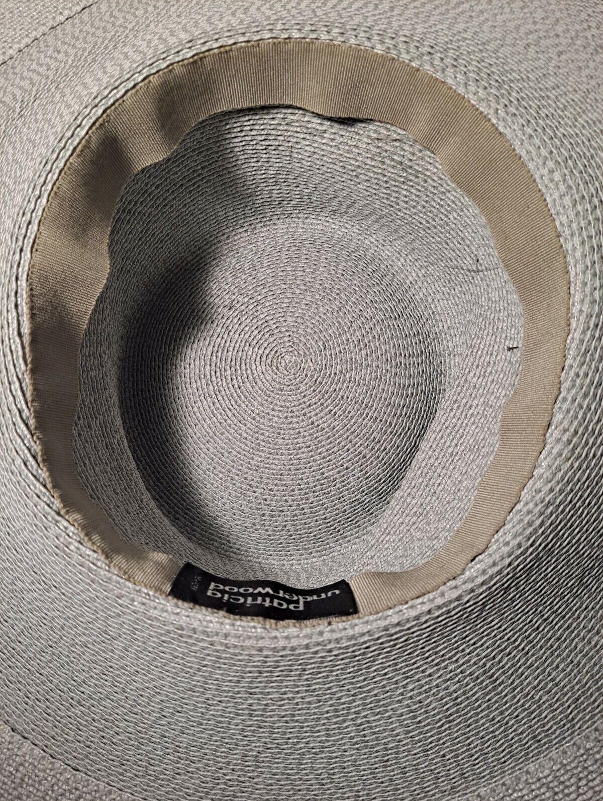 Vtg Patricia Underwood Pale Aqua Straw Hat/Gray S… - image 12