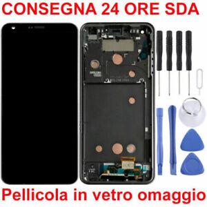 DISPLAY-LCD-TOUCH-SCREEN-FRAME-ORIGINALE-LG-G6-H870-OPTIMUS-NERO-GRIGIO-O-BLU