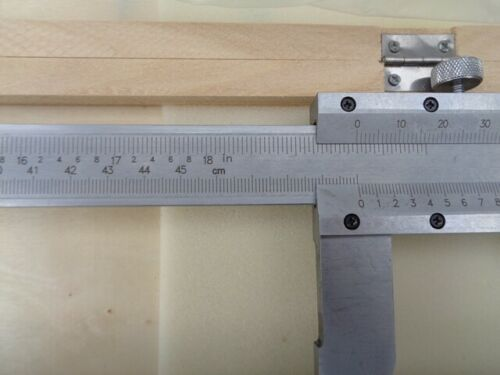 "Vernier Caliper 0-450mm  STEEL BODY  Industrial quality  001/""//.02mm increments"
