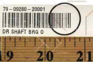 NOS SUZUKI RM125 TM100 TM125 TS100 TS185DRIVE SHAFT BRG O-RING QTY2 #09280-20001