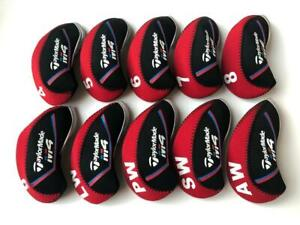 10PCS-Protective-Iron-Covers-for-Taylormade-M4-Club-Headcovers-4-LW-Red-amp-Black