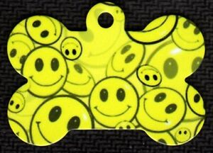 Details about Custom Pet Tag ID Smiley Face Bone FAST SSH
