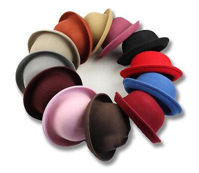 Fashion Women Ladies Fedora Wool Blend Felt Wide Brim Bowler Hat Bucket Cap Hot
