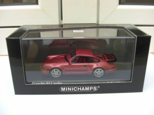 Porsche 911 turbo 1990 red minichamps 430069108 mib 1 43 914 959 968 very rare