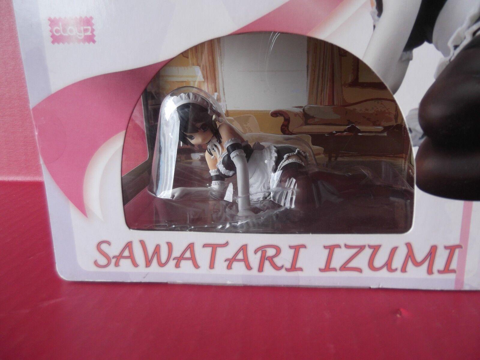 Il est mon maître Izumi SAWATARI 1 6 PVC  Figure CLAYZ noir Maid outfit  achats de mode en ligne