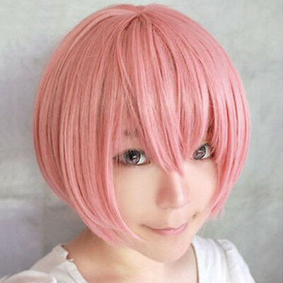 Anime Men Costume Short Blue straight cosplay party wig hair Cosplay wig Decor