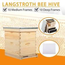 Beehive Bee Hive 20 Frame 1 Medium Box 1 Deep Box Queen Excluder Beekeeping