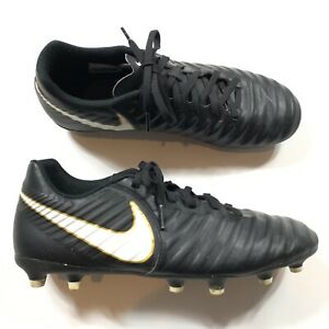 1657b941ef57 Nike Tiempo Rio IV FG 897759-002 Black White Gold Men s Soccer ...