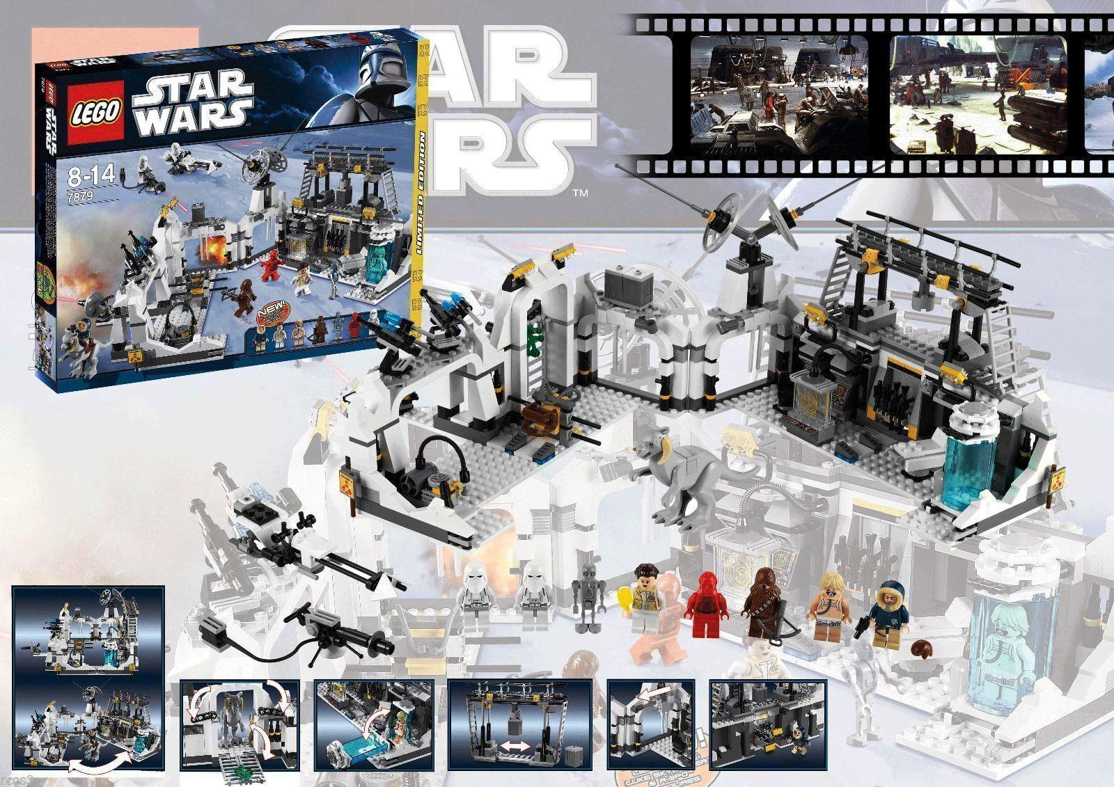 RETIrosso Star Wars Lego 7879 HOTH ECHO BASE 100% Complete w/ Instructions & Box