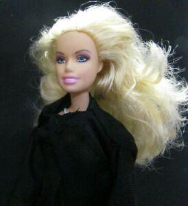 Barbie-Original-doll-blonde-hair-green-dress-black-vest-amp-yellow-dress
