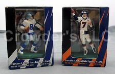 Set of 2 Vintage Collectible Topps Action Flats John Elway & Troy Aikman NFL