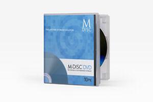 Details about M-Disc DVD by Millennattia 10 Pack