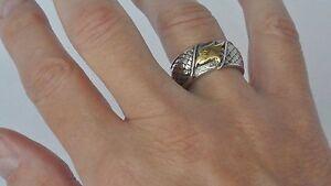 Konstantino-Men-039-s-Eagle-Ring-Band-Size-12-Sterling-Silver-18K-Gold-Heonos-New