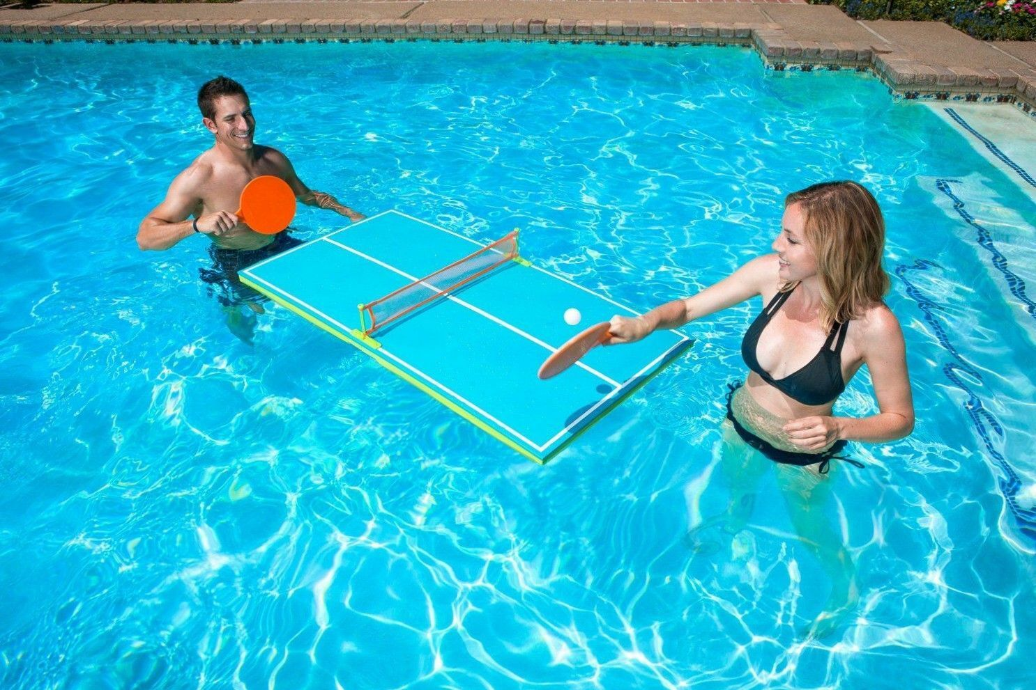Swimming Pool Ping Pong Tennis Table Game Floating Kids Adult Fun Water  Play Toy