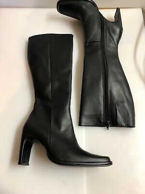 Peenfy Size 7.5 Women's White Cuero Leather Zip Up  Boots Hecho En Mexico