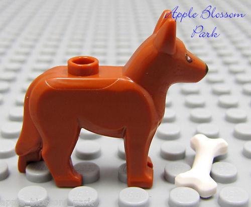 Lego Minifig Pet POLICE DOG Light Brown German Shepherd Animal