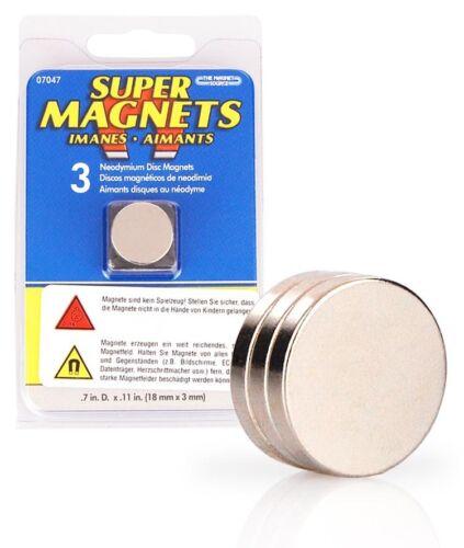 3er Néodyme Magnétique dans le set, 18 x 3 MM, 3 Aimants Neodymium, super aimants