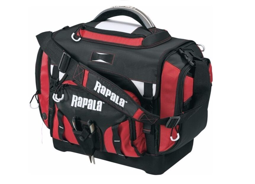 Rapala extra large fishing tackle bag box includes 7 for Large tackle boxes for fishing
