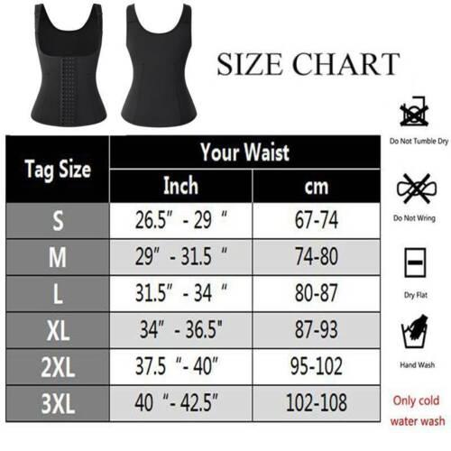 Details about  /Women Neoprene Hot Waist Trainer Vest Shaper Sauna Sweat Thermal Girdle Cami Top