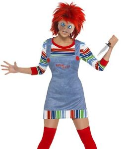Image is loading Halloween-Ladies-80s-Film-Chucky-Lady-Fancy-Dress-  sc 1 st  eBay : chuckie halloween costume  - Germanpascual.Com