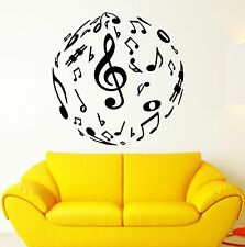 Wall Stickers Vinyl Decal Sheet Music Excellent Room Decor (ig1795)