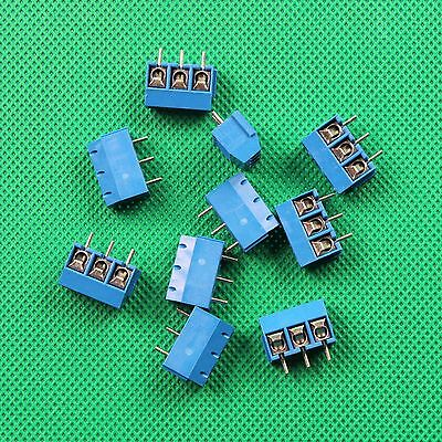 5PC 3 way 3 Pin Plug-in Screw Terminal Block Connector Pitch Panel PCB Mount