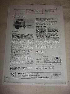 Rda Publicité Prospectus Feuille De Données Diesel Compresseur' 2,5/6 Veb Zwickau 1969-or Diko 2,5/6 Veb Zwickau 1969 Fr-fr Afficher Le Titre D'origine