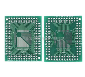 10 Pcs QFP//TQFP//FQFP//LQFP 32//44//64//80//100 To DIP Adapter PCB Board Converter