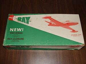 RARE Vintage 1950's RAY Scale Model SHOOTING STAR Wood Airplane Model Kit