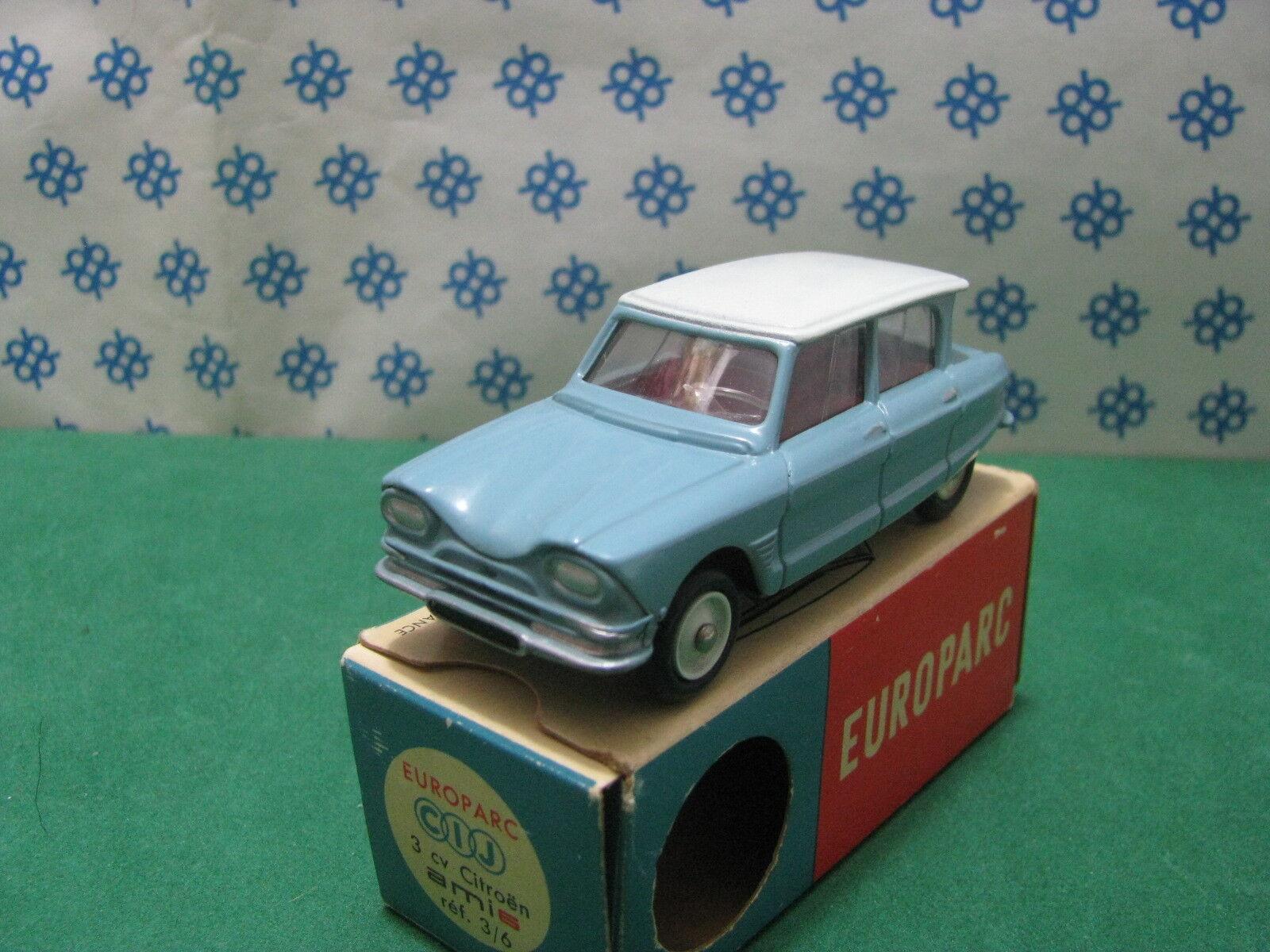 Vintage CIJ  Europarc 3 6  -  CITROEN  AMI 3 Cv.   -  France   Superbe  MIB