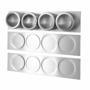 Spice Jars Rack Stainless Steel Wall Plate Base Mounted Base Kitchen Tins Kits