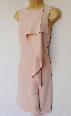 BNWT NEXT pink blush floral Flute Sleeve Jacquard Dress Wedding Occasion Party