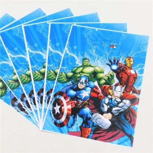 NEW SUPER HERO MARVEL AVENGERS .tablecloths banners cups// hats etc