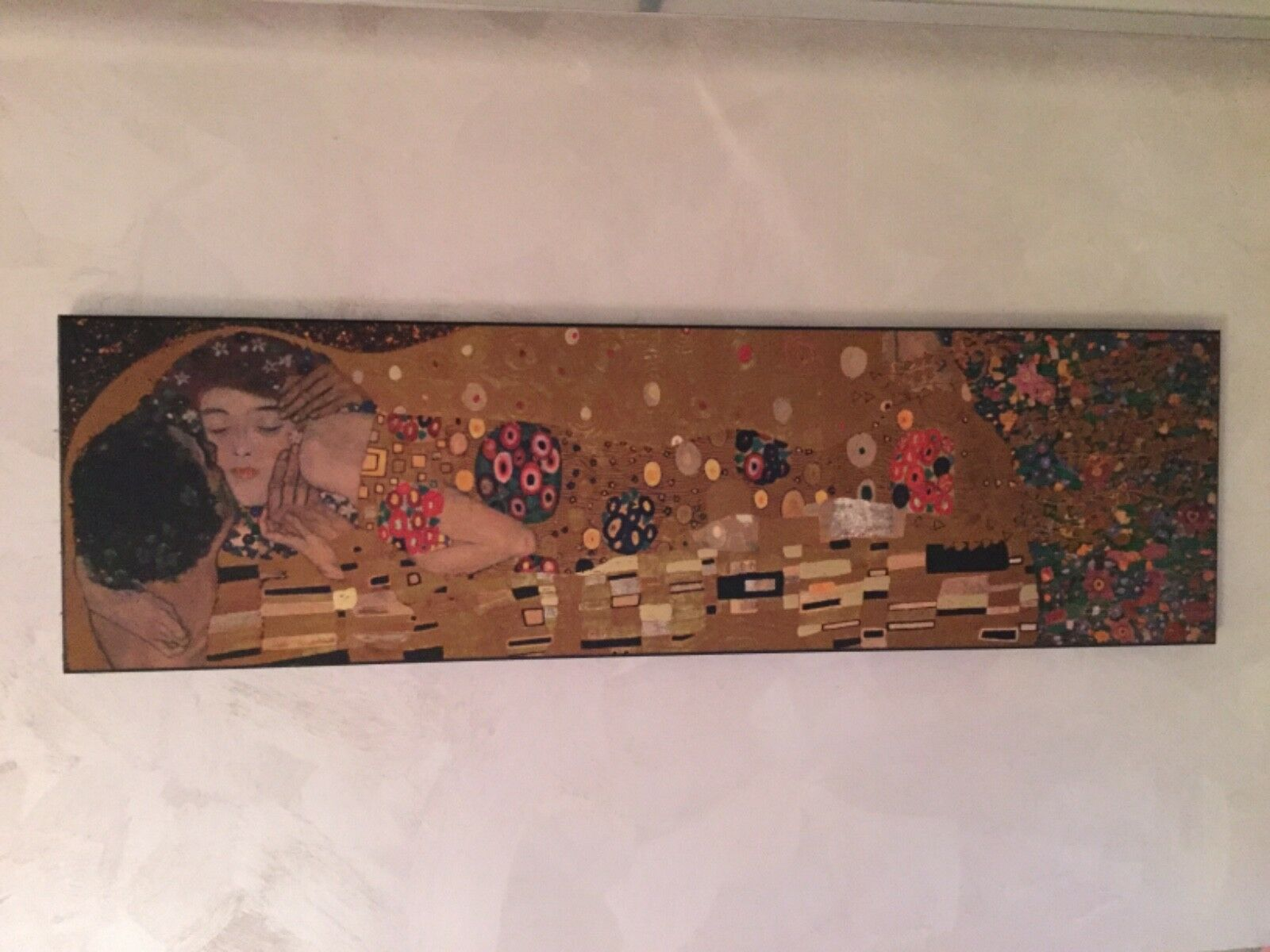 Il bacio Dipinto di Gustav Klimt quadro arrotamento casa splendido