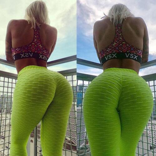 Women High Waist Yoga Pants Push Up Sports Fitness Leggings Scrunch Trousers G19