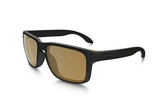 ea95379658 Oakley Holbrook Polarized Sunglasses Matte Black bronze Retro 100 Authentic  for sale online