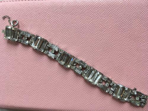 Vintage STARET Signed Rhinestone Bracelet