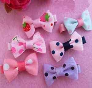 10PCS-LOVELY-Toddler-Girl-Hair-Clip-Ribbon-Baby-Kids-Satin-Bowknot-Headband-HS