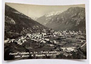 Cartolina-vera-foto-Piazza-Brembana-monte-Menna-anni-50-bianco-nero-viaggiata