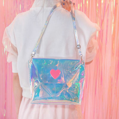 Transparent Shoulder Bag Clear Hologram Iridescent Holographic Laser Candy Color | eBay