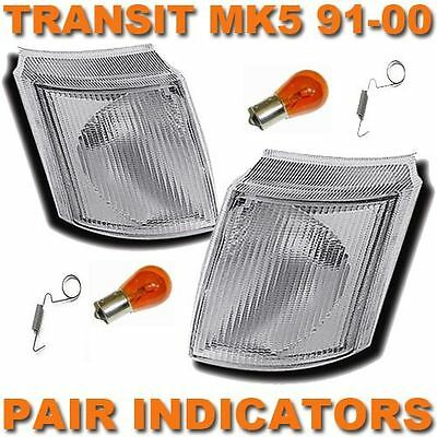 Ford Transit Mk4 /& 5 1991-2000 Frontal indicadores transparente 1 par de sistema operativo /& N//s