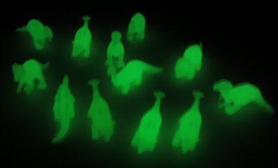 36 Glow in Dark Dinosaur Figurines T-Rex Velociraptor Stegosaurus Triceratops