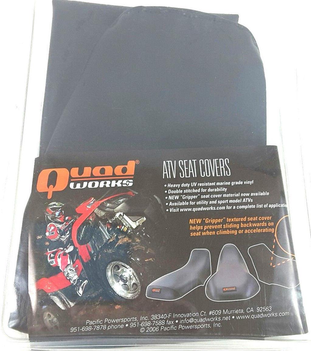Compatible with 2005 Honda TRX350FE FourTrax Rancher 4x4 ES Handmade Black Marine Grade ATV Seat Cover