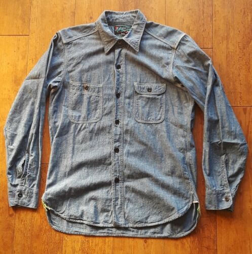Mister Freedom Blue Nixon Shirt Chambray Made in J
