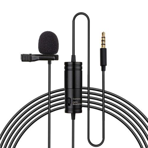 Universal 3.5mm Jack 20ft//6M Micrófono para DSLR Vídeo Cámara Y Smartphone App