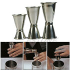 S/M/L Stainless Jigger Single Double Shot Cocktail Wine Short Bar Measure Cup