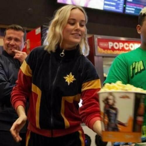Captain Marvel Brie Larson Avengers Ladies Fleece Jacket STOCK CLEARANCE SALE
