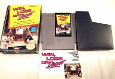 Nintendo Win Lose or Draw Video Game Clean For NES System With Box Case Book