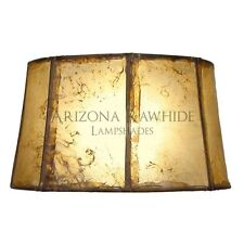 """Southwestern Rawhide - Leather Lamp Shade-7""""Hx13""""Wx11"""" Top -Natural Color"""